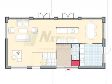 NxtGen Houses 130 ground floor floorpan