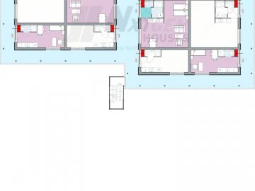 NGH 220 tiny house block, 2-block, floorplan first floor
