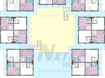 NGH 220 tiny houseblock, campus, floorplan ground floor