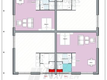 NGH 220 tiny houseblock single block floorplan ground floor