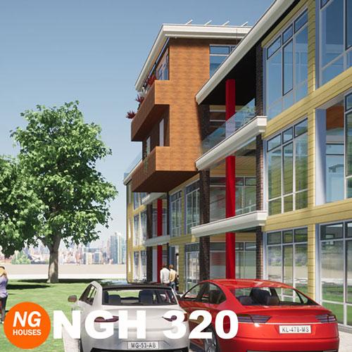 NxtGen Houses 320 appartementencomplex zijaanzicht