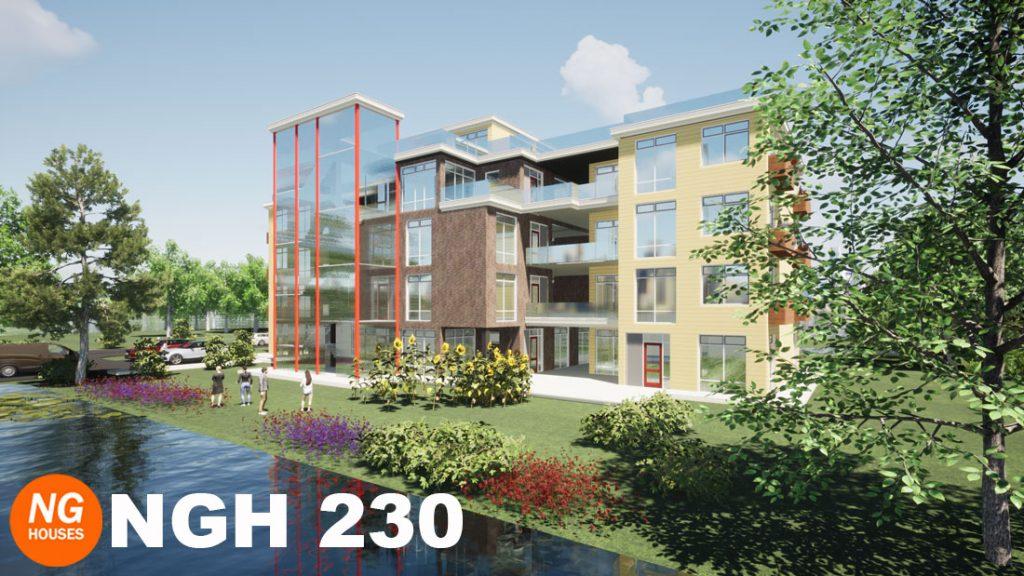 NxtGen Houses 230 appartementencomplex aan het water